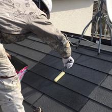 屋根の下塗り/スマホ