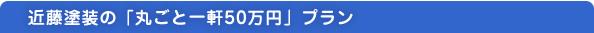 近藤塗装の「一軒丸ごと50万円」プラン